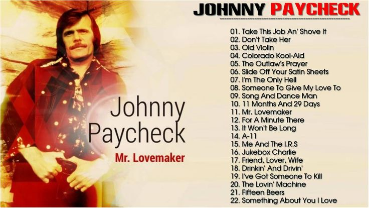 Johnny Paycheck: Johnny Paycheck Greatest Hits l The Best Of Johnny Payc...