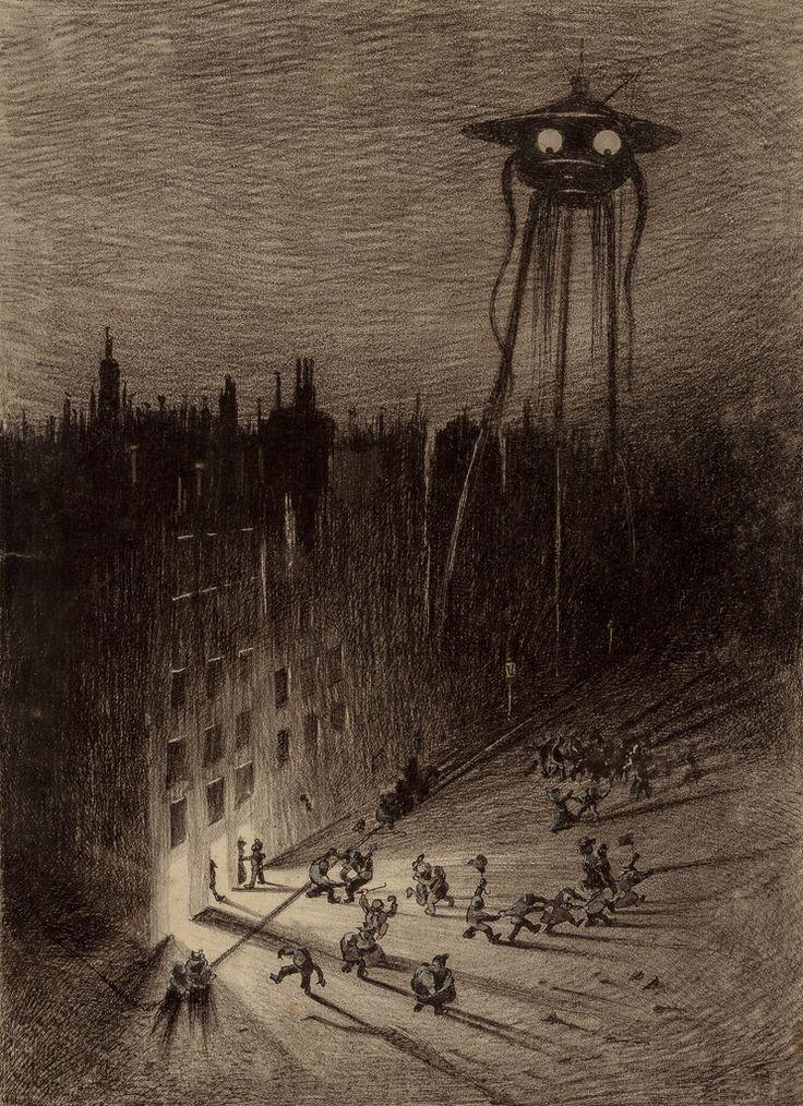 En 1906 l'artiste brésilien Henrique Alvim Corrêa a réalisé plus de 130 illustrations représentants l'invasion de Londres par des extraterrestres pour une édition de luxe du livre «La Guerre des Mondes» de H.G. Wells publiée en Belgique en seulement 500 exemplaires. Alvim Corrêa était arrivé à paris en 1894 pour suivre des études artistiques, après …