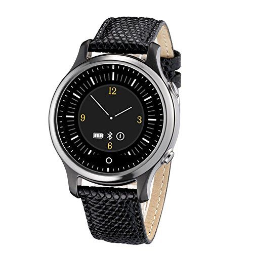 UWATCH U11C Bluetooth 40 Smart Watch Intelligent Wristwatch Passometer Fitness Tracker Sleep Monitor Smartwatch for IOS iPhone Android compatible with iphone 66s plus with sim card S360 black *** Details can be found by clicking on the image.