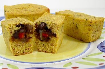 Tamale Bites- I really like the twist on a tamale in this, using corn ...