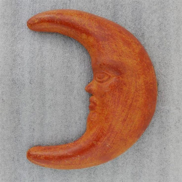 "8"" Large Moon Face Terra Cotta, Cara de La Luna Wall Hanging Tonala Art #Tonala #LosCocosStore"