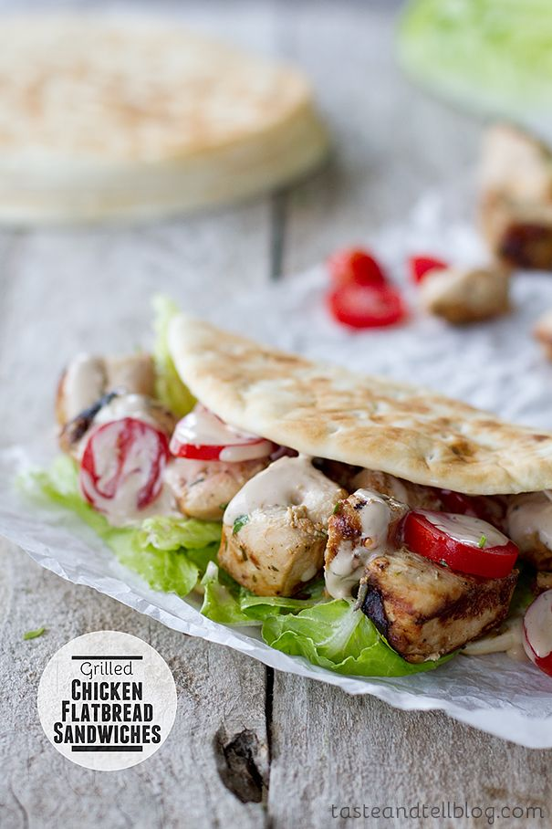 Grilled Chicken Flatbread Sandwiches