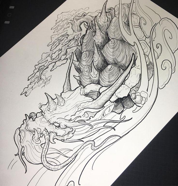 #irezumicollective #vancouvertattoo #dragonturtle