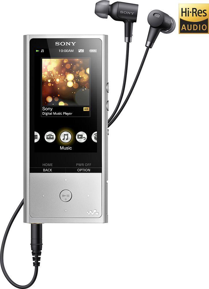 Sony - Walkman NW-ZX100 Series 128GB* Hi-Res Digital Audio Player - Silver, NWZX100HNSM