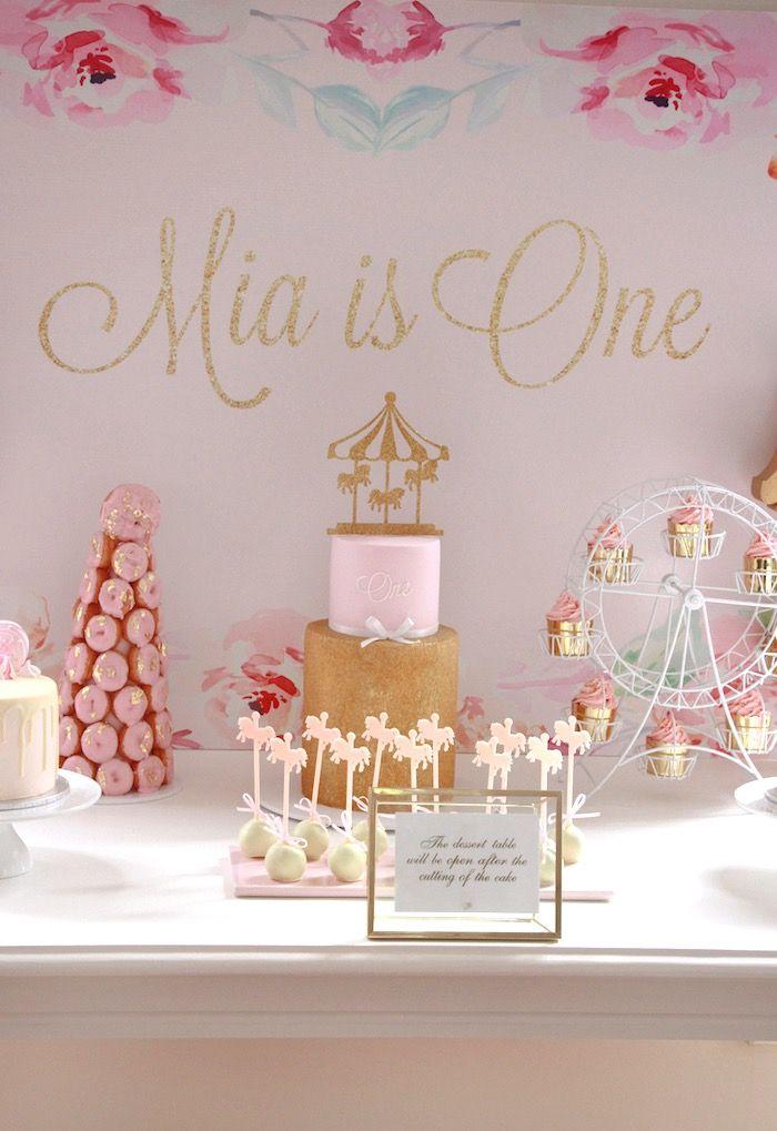 Floral Carousel Birthday Party on Kara's Party Ideas   KarasPartyIdeas.com (3)