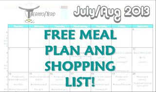 Meal Planning Part 2 | ThermoNerd  Free Meal Plan and Shopping List and Freezer prep plan