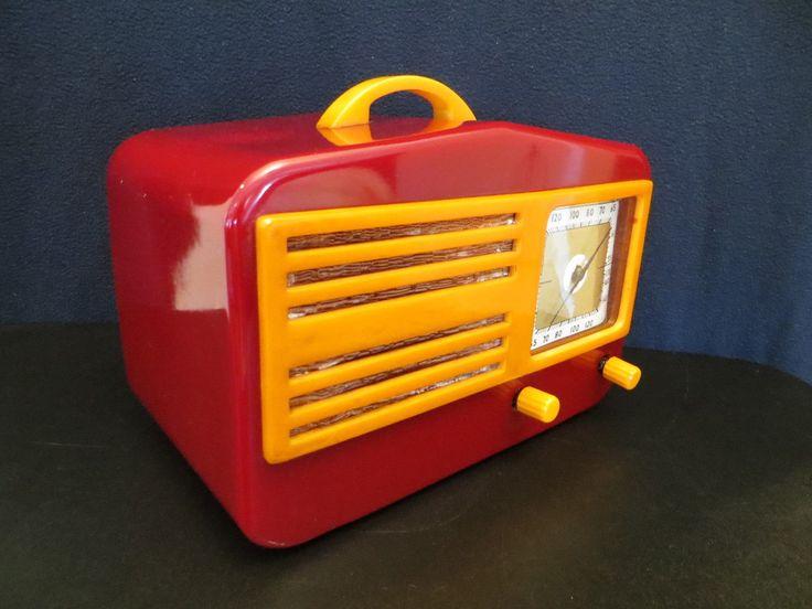 Vintage 1940s Art Deco Mid Century Garod Catalin Radio Quality Restoration | eBay