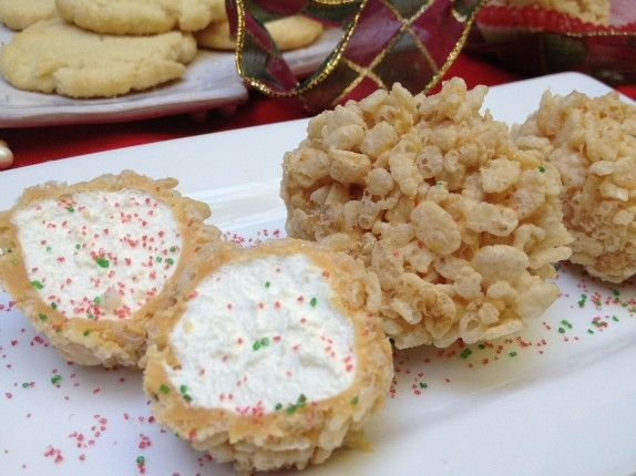 """CRISPY BALLS!"" EVERYONE just LOVES these during the holidays. SO EASY TO MAKE, Great for travel & gifts, and the kids love to make them too and just rave about them. SWEET! Enjoy!"