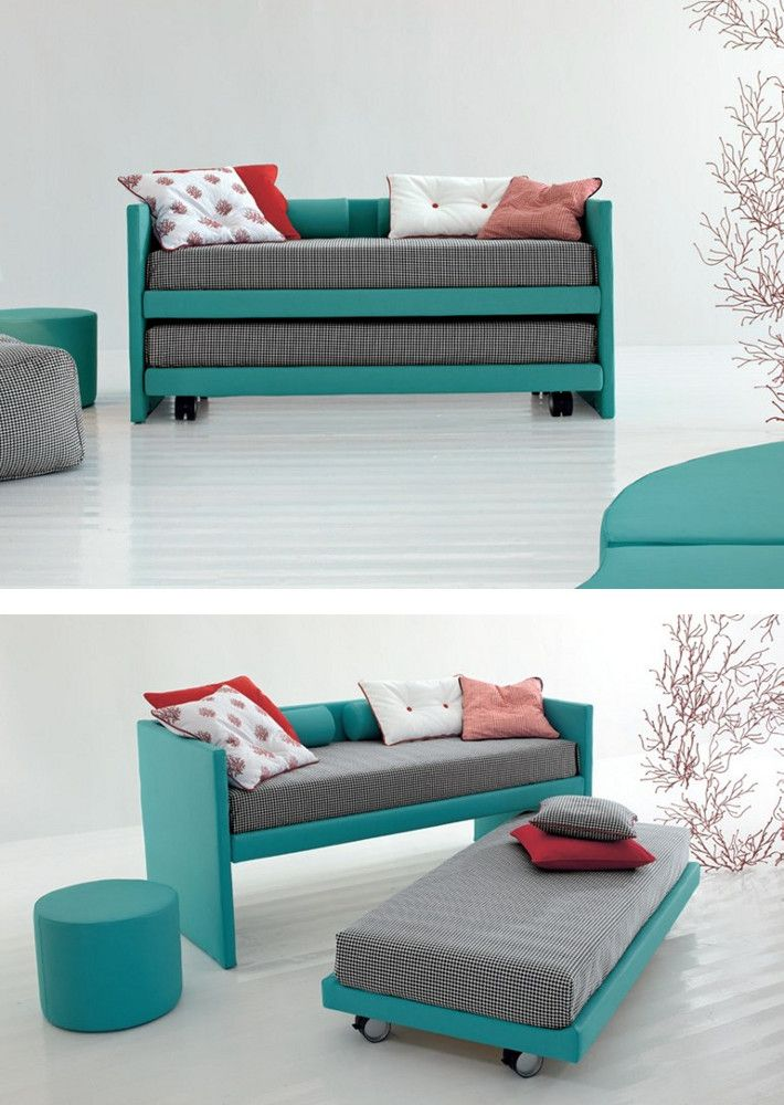 Trundle #bed on casters 2MUCH! by Twils @mytwils                                                                                                                                                     More