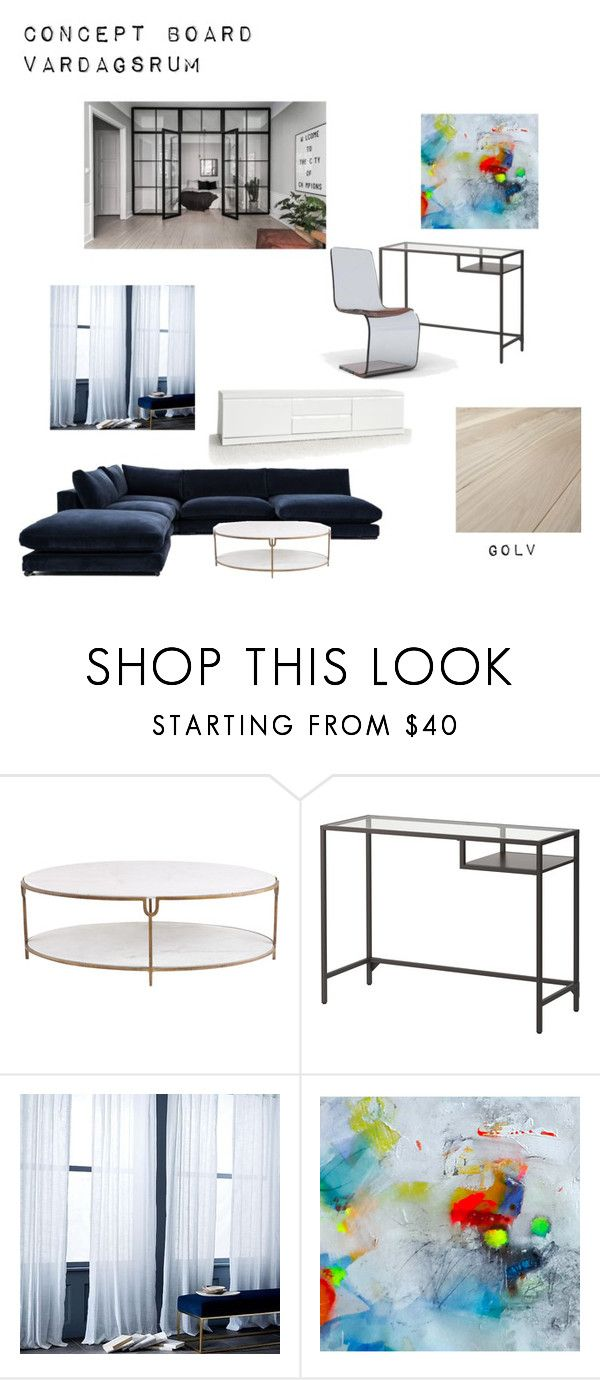"""""""Concept Board Livingroom"""" by rebeccadyrting on Polyvore featuring interior, interiors, interior design, home, home decor, interior decorating, Global Views and West Elm"""