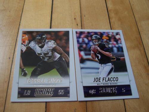 JOE-FLACCO-TERRELL-SUGGS-2014-Panini-Score-NFL-Baltimore-Ravens-2-Card-Lot #JoeFlacco #BaltimoreRavens