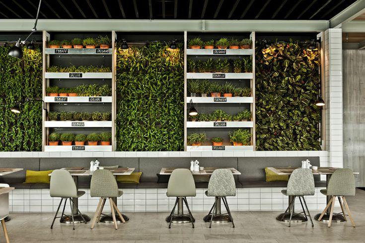 Mercado, Bratislava #green #interiors #interior #market #restaurant #design #modern #contemporary #architecture #style #plants