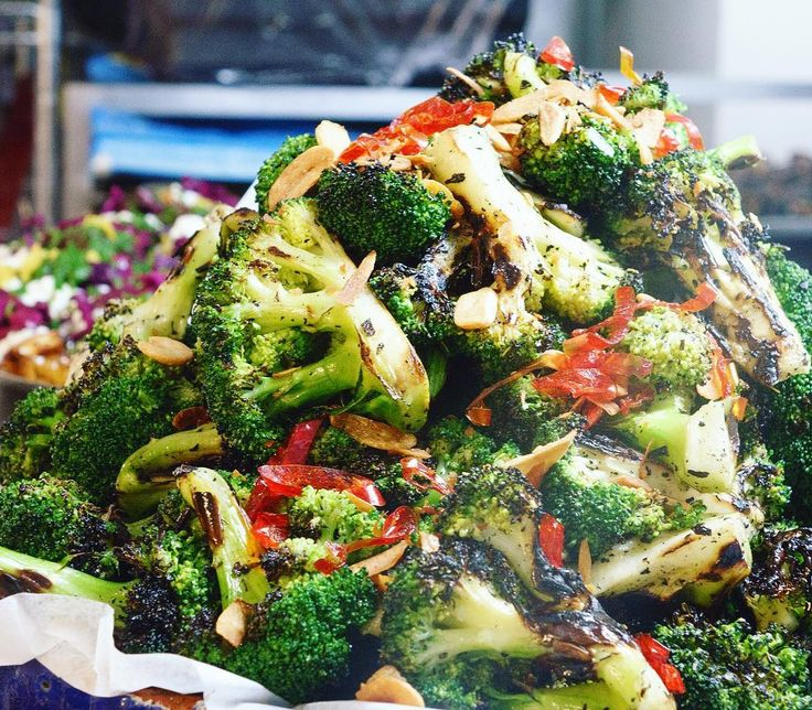 Char-grilled broccoli with chilli and garlic. The one dish that never left the Ottolenghi menu. 15 years!! #broccoli