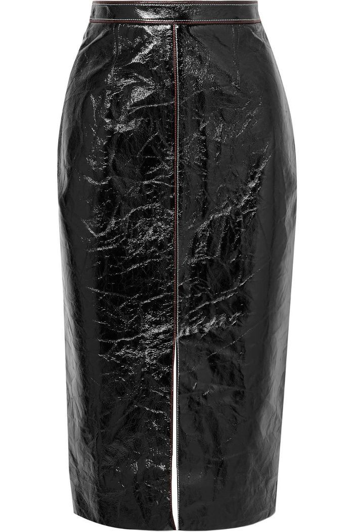c571067457 Birch Crinkled Patent-leather And Jersey Skirt | Shopping List in ...