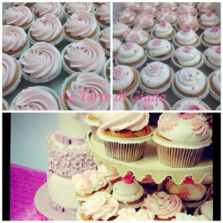 Cupcake , dedicate ad eventi , battesimi , matrimoni, wedding cake , da Le Torte di Giada , Brescia , www.tortedigiada.com