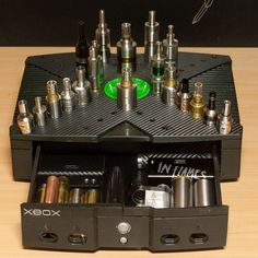 Old Xbox made into a badass vape stand. Looks awesome. Guys? What do you think of this? - www.truev.co.uk, the best ejuice