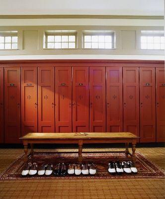Amelia Handegan's design for Old Collier Golf Club.  Men's locker room.