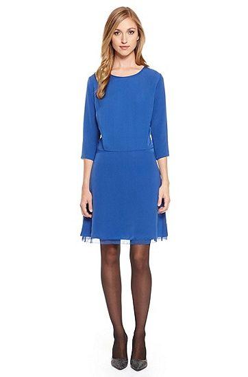 alady three quarter sleeve dress by boss orange in silk not
