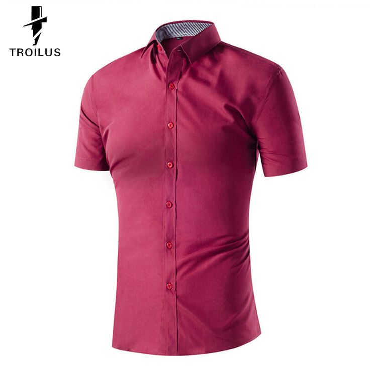 Find More Dress Shirts Information about Troilus 2016 Summer Men Short Sleeve Shirt Slim Fit Men's Dress Shirts Solid Color Casual Mane Work Wear Shirts Hot New Fashion ,High Quality shirt dress men,China shirt Suppliers, Cheap shirts for men style from Troilus Flagship Store on Aliexpress.com
