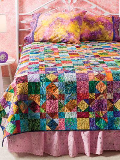 Batik Scraps -- This 'beginner' quilt is very good looking!!