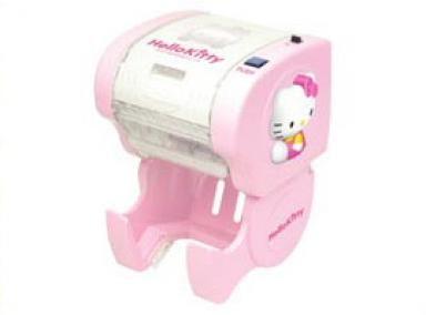 Hello Kitty Toilet Paper Dispenser... so cute in a little girls bathroom.