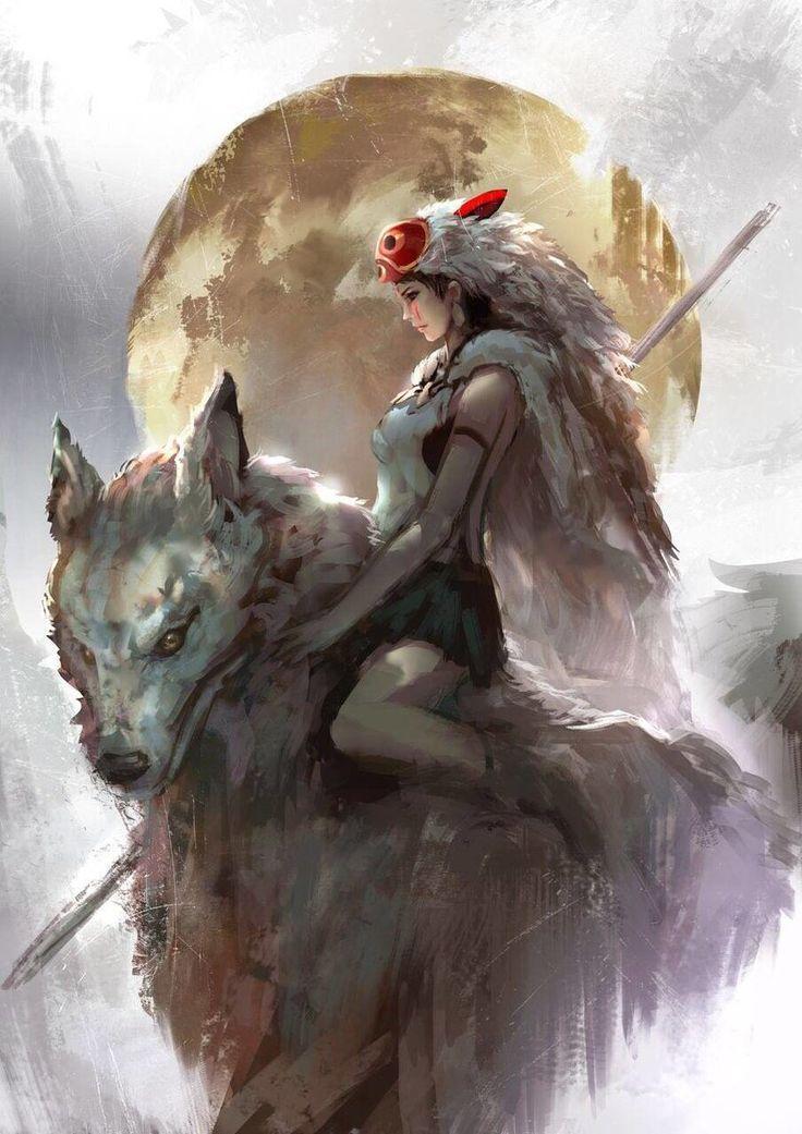 Princess Mononoke by CGlas – #CGlas #japonaise #Mo…