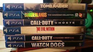 SIX (6) PS4 games:TombRaider*Borderlands*2-CallOfDuties*TheEvilWithin*Watch Dogs #Games #Ps4 #Sony #Playstation #Game #Ps4 #Gamer #Player
