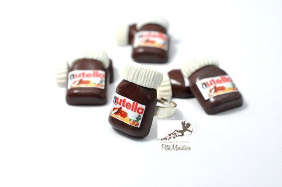 Anello Nutella-Gioielli Kawaii-Anello di PetitMiniatures su Etsy