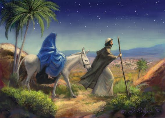 68 best art christmas paintings images on pinterest for Idea door journey to bethlehem