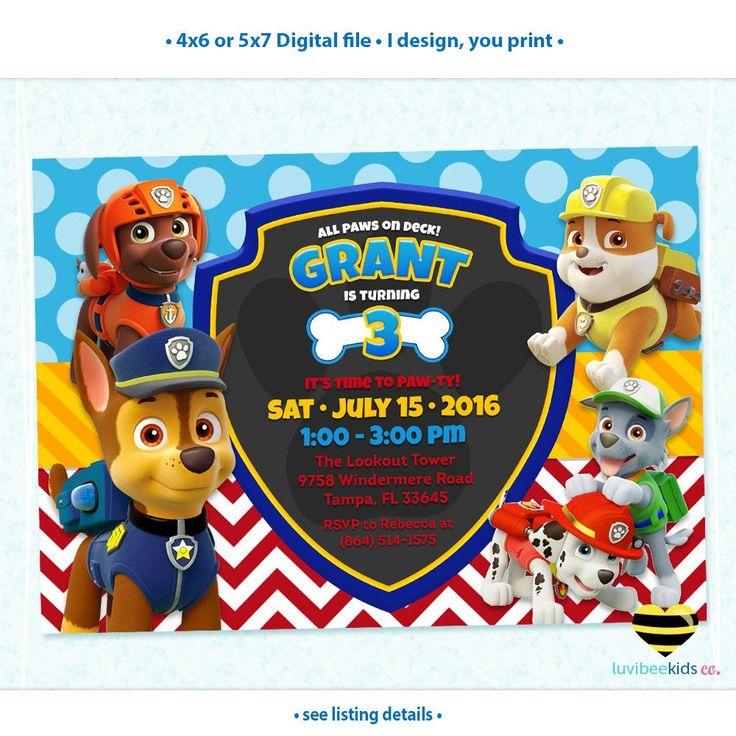 Best 25+ Paw patrol birthday invitations ideas on ...