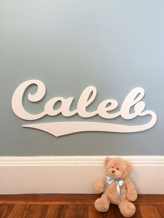 Baseball Style Wooden Name sign Name Plaque by MoonSnailCreations1