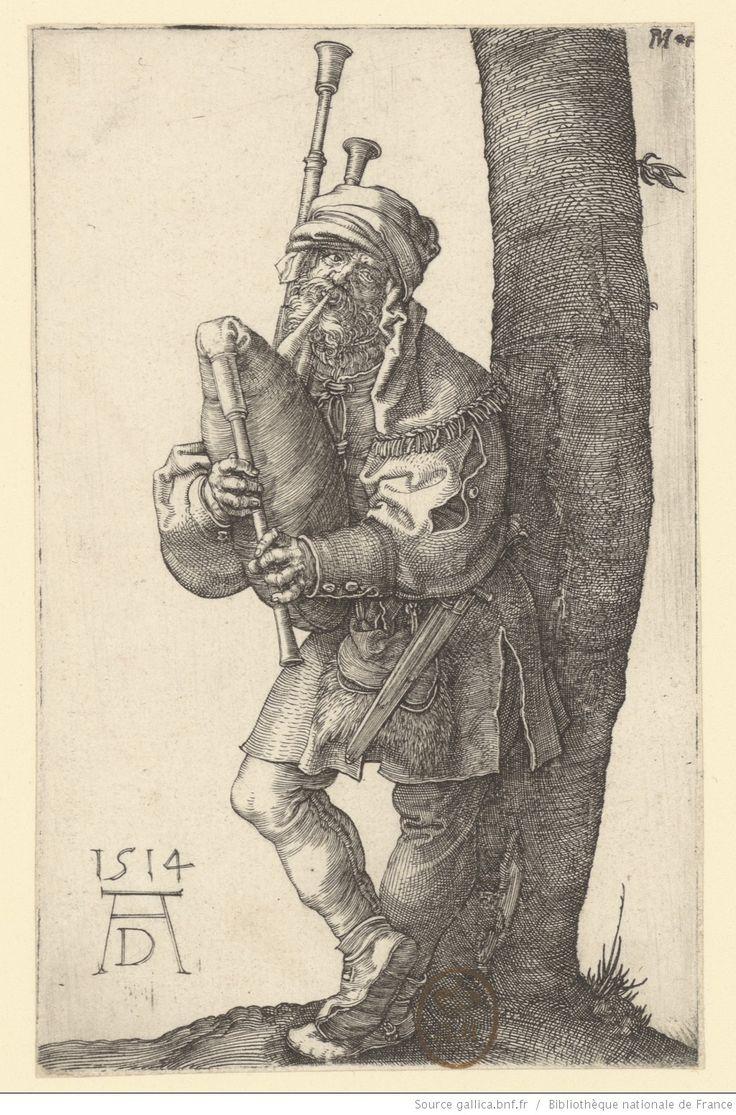 [Le joueur de cornemuse] : [estampe] / AD 1514 [A. Dürer] [monogr.]