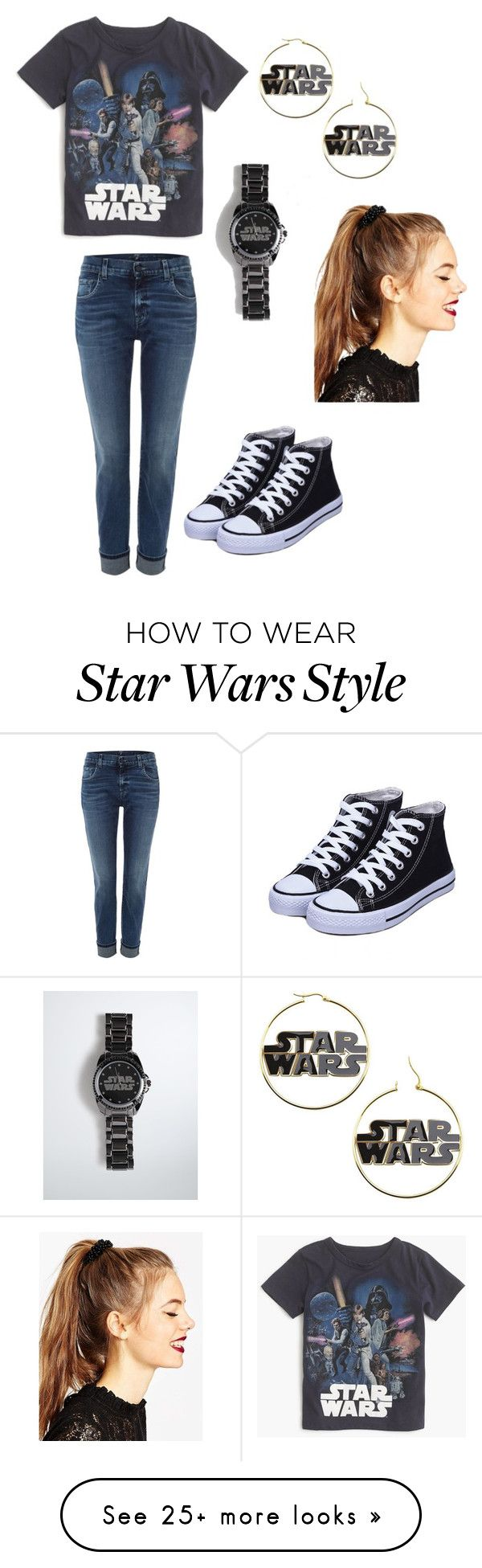 """""""Star Wars lover"""" by haleenewton on Polyvore featuring J.Crew, 7 For All Mankind, Torrid and ASOS"""