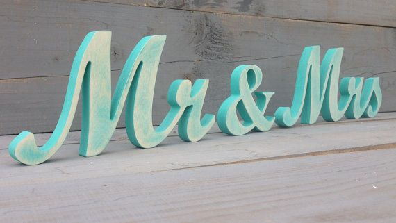 Tiffany Blue mr.. and mrs.. distressed cottage chic by SunFla