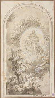 San Miguel Arcángel combatiendo a Lucifer - Mura, Francesco de
