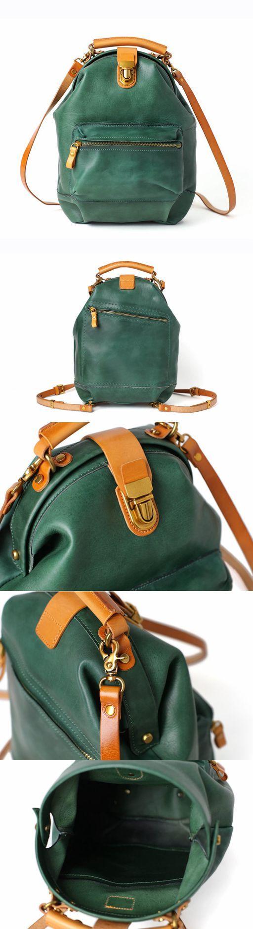 Handmade Full Grain Leather Backpack,  Shoulder Bags, Casual Satchel Bag 14107