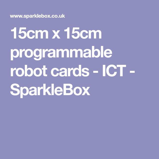 15cm x 15cm programmable robot cards - ICT - SparkleBox