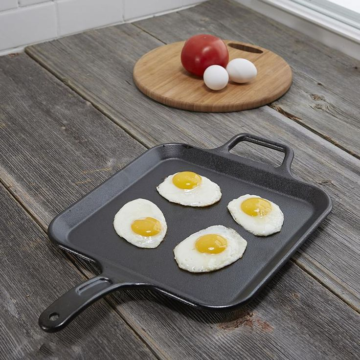 The original green cookware, Lodge is the only cast iron cookware manufactured in North America. Lodge cast iron cookware is 100% chemical free. No paints or toxins are used - only Kosher certified soy vegetable oil.  It will enrich your eggs, burgers, rib eyes and fish fillets with the earned flavours of a well used grill.