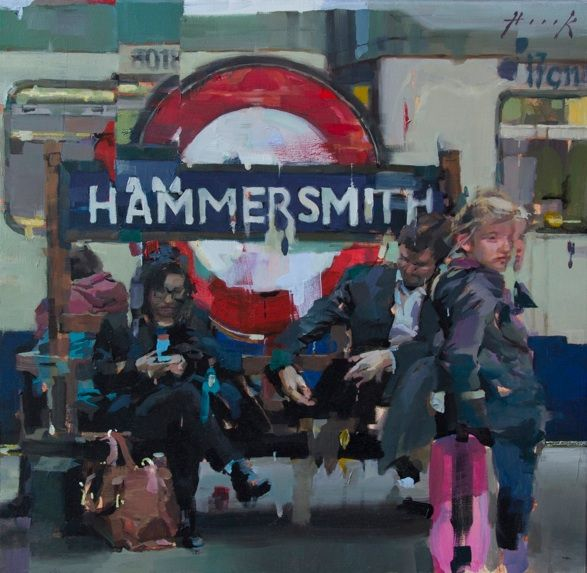 Last mile home - Christian Hook Focusing on the iconic tube line this piece shows London on a more personal scale, anyone who lives in London will easily relate to it