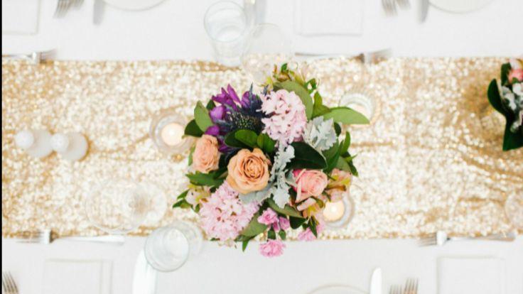 Warehouse wedding- Mirra Brisbane- Julian Beattie- Stylised Brisbane- Pastel flowers- Blush- Lilac- White- blue- Vintage- Metallic- Gold- Centrepiece- Reception- Sequins