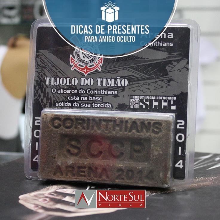 Tijolo para decoração da loja Poderoso Timão - R$19.90