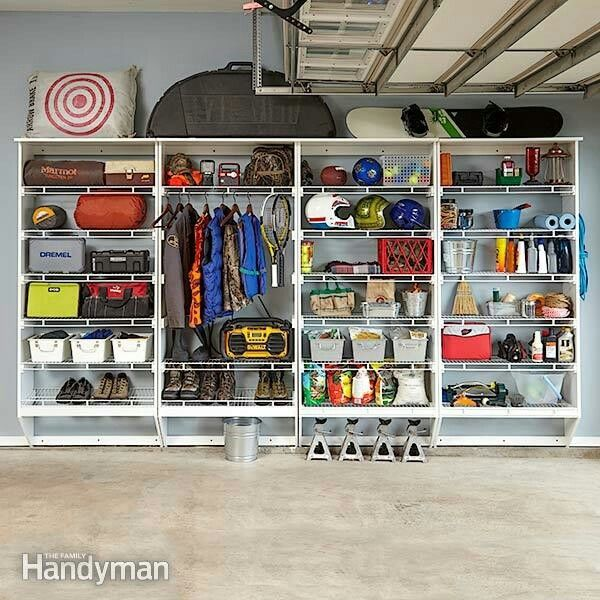 Organize your garage with these storage plans. via Family Handyman mag #organization