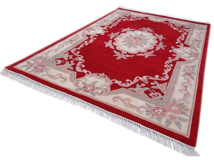 TAPIS D'AUBUSSON | Aubusson rouge Tapis chinois - N°2420 - 300x200cm