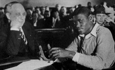 "Informative site about ""the Scottsboro Boys"" & their trials."