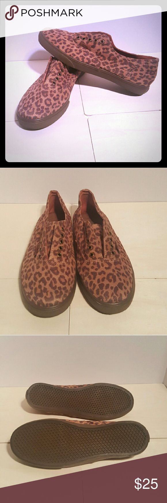 Authentic VANS Leopard Print Sneakers Adorable gently worn VANS.  Leopard Print perfect for any outfit! Vans Shoes Sneakers