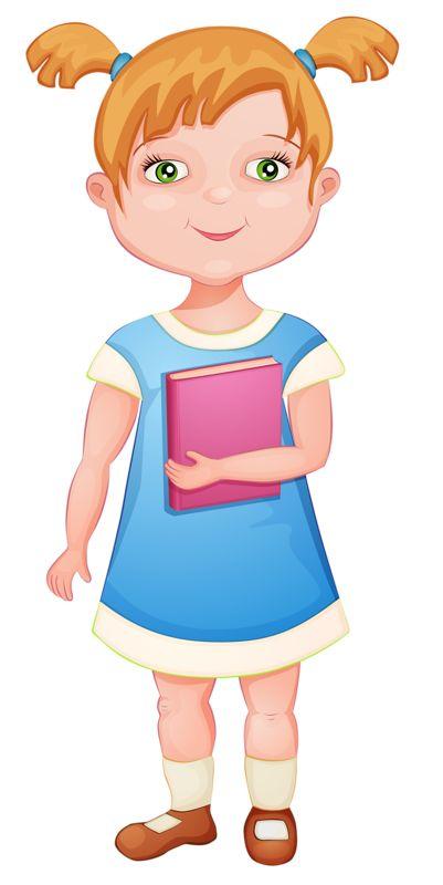 Dibujos - Clipart - Digi stamps - School - Girl - Escuela - Niña