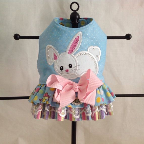 Sweet Easter Appliqued Baby BUNNY Double Ruffled by princessamee