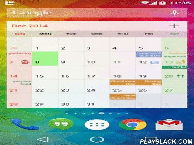 New Calendar  Android App - playslack.com ,  This app include most common calendar functions, and let users manage their schedules easily.It can be use with Google Calendar. It support daily, weekly, monthly and yearly calendar functions. It support public holiday for +30 regions. Voice reminders (TTS) notify you the event with voice. You can also search the calendar. Lunar phase, sunrise and sunset time (requires positioning / GPS) are supported. Over 10 widgets are available. They are…