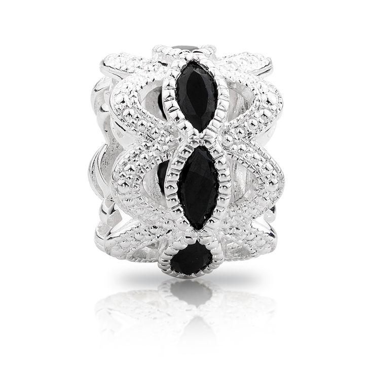 Sterling silver  cubic zirconia charm (11990048) #emmaandroe #artdeco