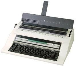 """NAKAJIMA AE-740S Electronic Typewriter with Spanish Keyboard, 2cps Print Speed, 112K Storage Memory, 40 Character LCD with Contrast Control, Adjustable Display Panel, Programmable Paper Insertion. Justification; Automatic Centering, Carrier Return, Word Correction and Underlining; Bold Type. 10, 12 and 15 Pitch Plus Proportional Spacing; 10 line/700 character memory; Index Forward/Reverse. Micro up/down (1/96""""), Repeat Key, Bold Type, Caps Lock, Automatic Relocation: full page Space. Half..."""